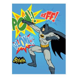 Carte Postale Batman poinçonnant le graphique