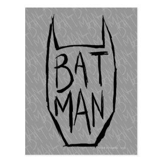 Carte Postale Batman saisissent la tête
