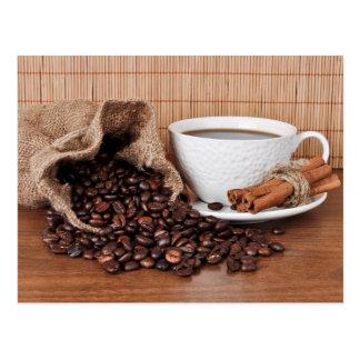 Carte Postale Bâtons de café et de cannelle