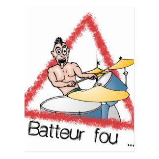 Carte Postale Batteur