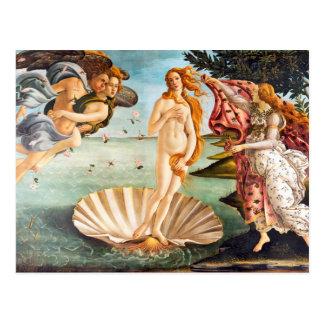 Carte Postale Beau Botticelli Vénus reconstitué et Recolored