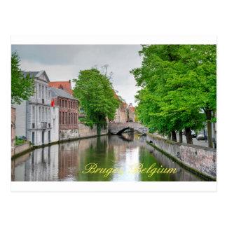 Carte Postale Beau canal de Bruge