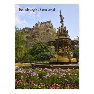 Carte Postale Beau château d'Edimbourg