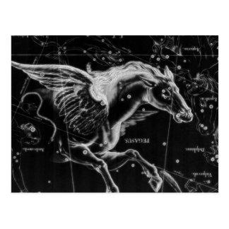Carte Postale beau cheval mystique impressionnant d'ailes de vol