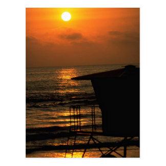 Carte Postale Beau coucher du soleil : Carlsbad, la Californie