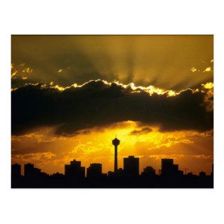 Carte Postale Beau coucher du soleil : Coucher du soleil de