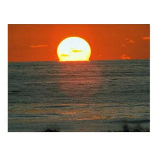 Carte Postale Beau coucher du soleil : South Pacific, Tahiti
