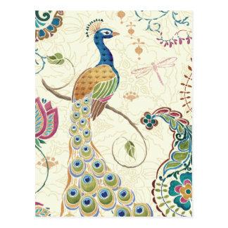 Carte Postale Beau paon