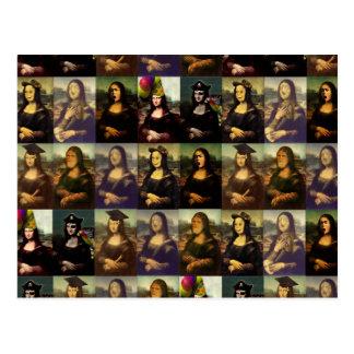 Carte Postale Beaucoup de visages de Mona Lisa
