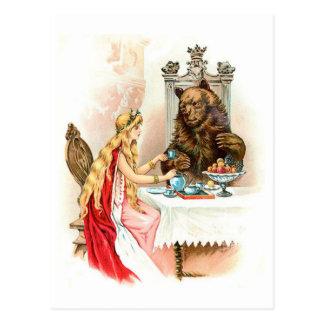 Carte Postale Beauté dans le rose et la bête