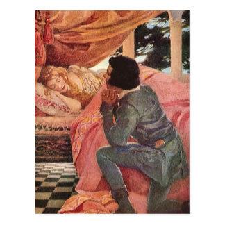 Carte Postale Beauté de sommeil vintage par Jessie Willcox Smith