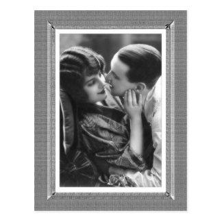 Carte Postale Beauté vintage - passion - dans noir et le blanc