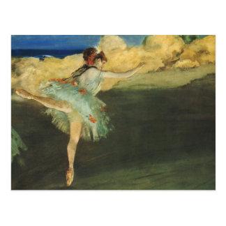 Carte Postale Beaux-arts de ballerine d'Edgar Degas