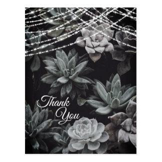 Carte Postale Beaux Succulents enchantant le Merci de lumières