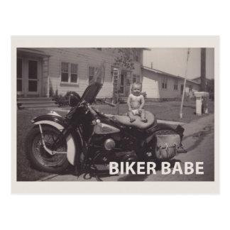 Carte Postale bébé de cycliste