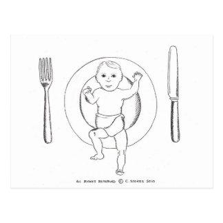 Carte Postale Bébé de plat