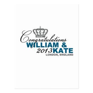 Carte Postale Bébé royal 2013 : Félicitations William et Kate