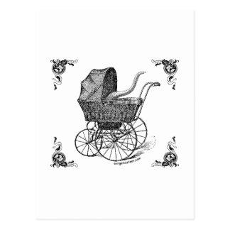 Carte Postale Bébé victorien de Steampunk Cthulhu