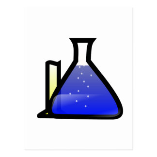 Carte Postale Bechers de chimie