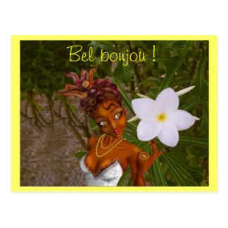 Carte Postale Bel bonjou !