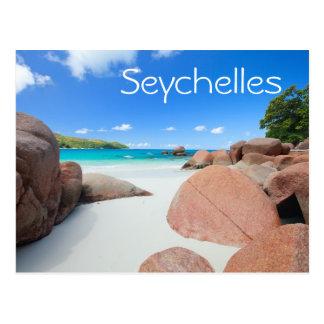 Carte Postale Belle côte rocheuse en Seychelles
