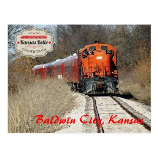 Carte Postale Belle du Kansas - moteur 142