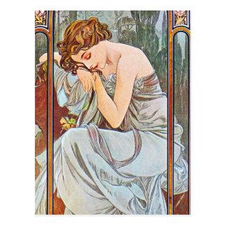 Carte Postale Belle femme de sommeil