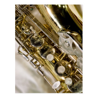 Carte Postale Belle musique--Saxophone