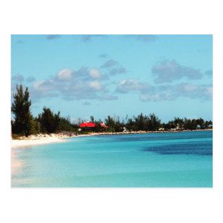 Carte Postale Belle plage bahamienne