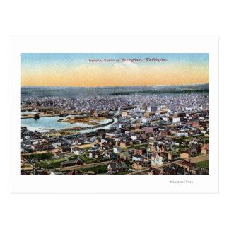 Carte Postale Bellingham, Washington - antenne de ville