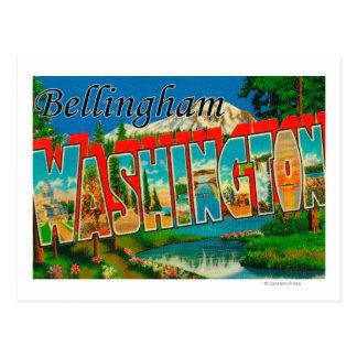 Carte Postale Bellingham, Washington - grandes scènes de lettre