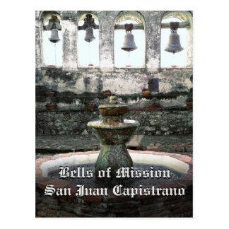 Carte Postale Bells de mission San Juan Capistrano