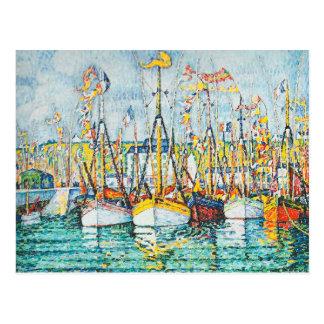 Carte Postale Bénédiction de la flotte de thon chez Groix par