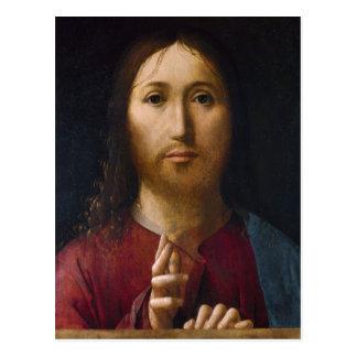 Carte Postale Bénédiction de XVème siècle du Christ