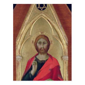 Carte Postale Bénédiction du Christ, c.1325