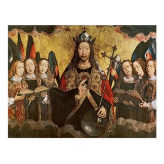 Carte Postale Bénédiction du Christ, panneau central d'un