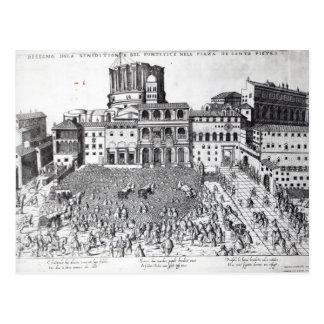 Carte Postale Bénédiction du pape dans le carré de St Peter