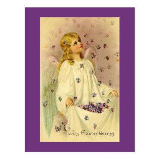 Carte Postale Bénédictions angéliques de Pâques avec des