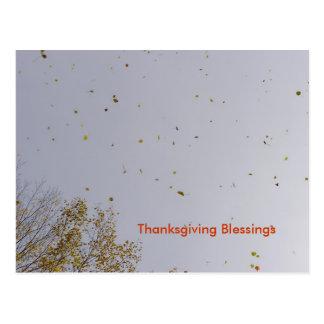 Carte Postale Bénédictions d'or de thanksgiving