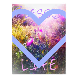 Carte postale bénie de la vie