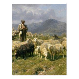Carte Postale Berger des Pyrénées par Rosa Bonheur