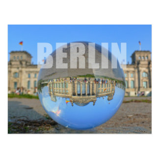 Carte Postale BERLIN - lacs through crystal balle the, Reichstag