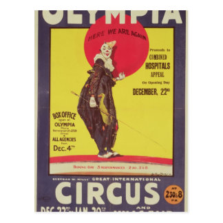 Carte Postale Bertram fraise l'affiche de cirque