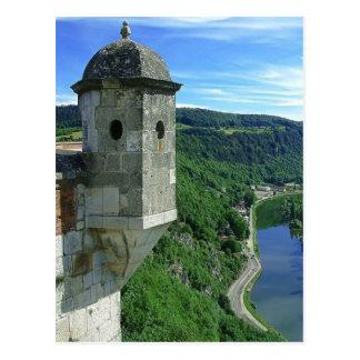 Carte Postale Besançon, citadelle et la rivière