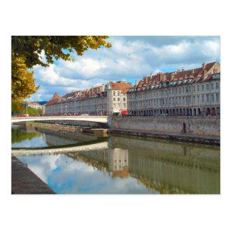 Carte Postale Besançon le long de la rive