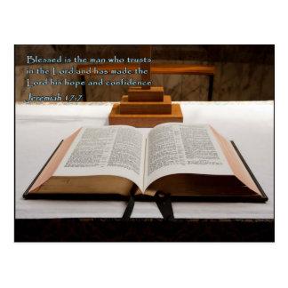 Carte Postale Bible de 17:7 de Jérémie