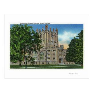 Carte Postale Bibliothèque commémorative de Thompson, université