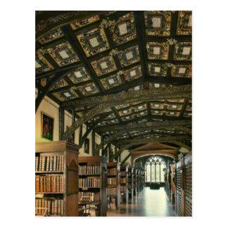 Carte Postale Bibliothèque de Bodlein, Université d'Oxford,