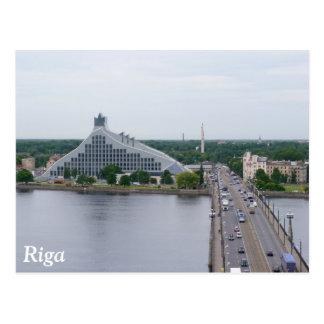 Carte Postale Bibliothèque nationale de la Lettonie, Riga