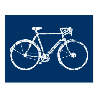 Carte Postale bicyclette blanche